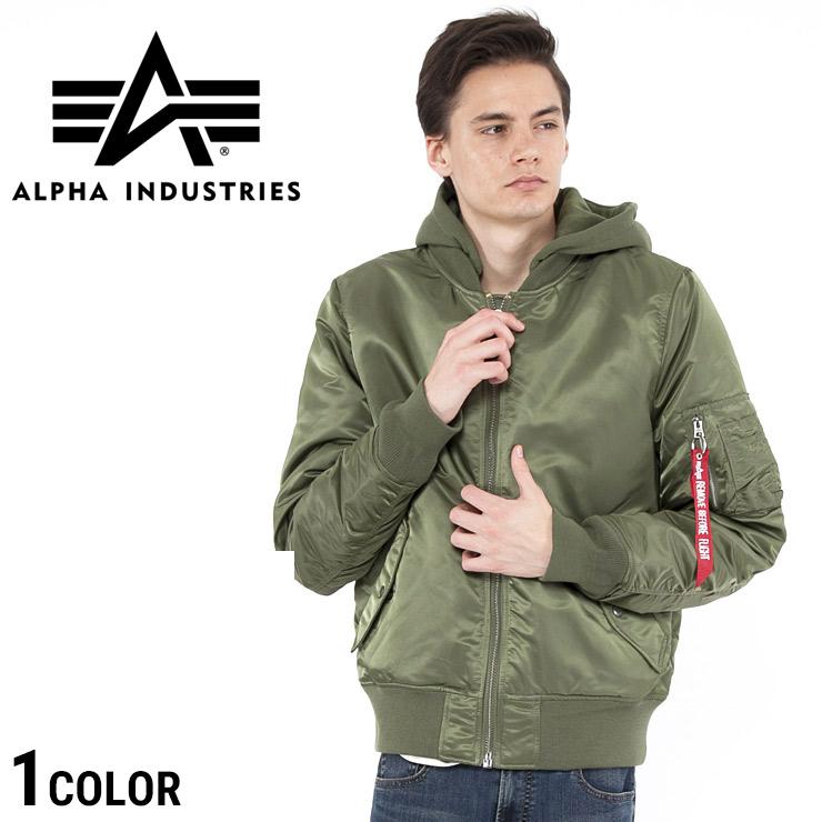ALPHA INDUSTRIES INC (アルファインダストリーズ) フード フライト ブルゾン MA-1 NATUSメンズ カジュアル 男性 メンズファッション アウター ストリート 【TA0130003】