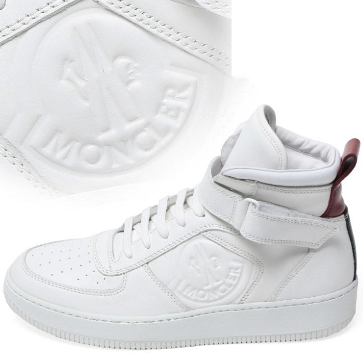 モンクレール MONCLER レザー ロゴ型押し ハイカットスニーカー CORENTIN コランタン ブランド メンズ 男性 ファッション 靴 シューズ スニーカー シンプル 【MC1024500019E0】 【dl】brand