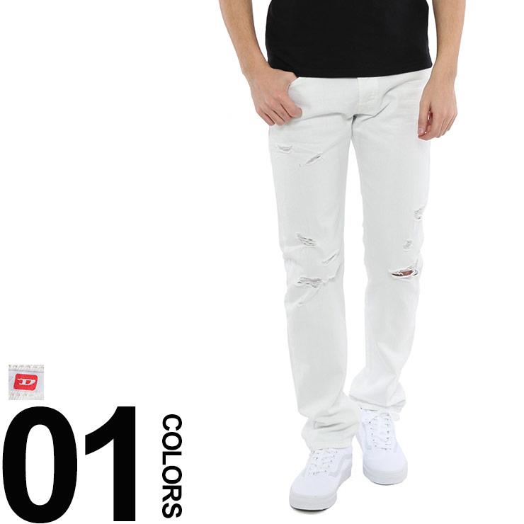 ディーゼル DIESEL ホワイトジーンズ デニム ジーパン クラッシュ加工 ブランド メンズ ボトムス DSBUSTER680K 【dl】brand