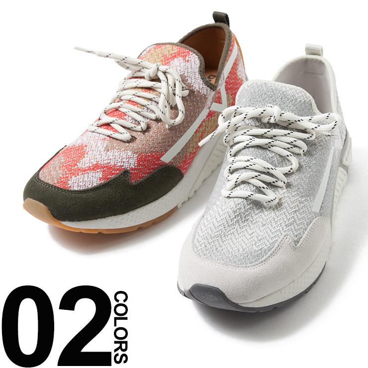ディーゼル DIESEL ニットスニーカー ヘリンボーン カモフラージュ 迷彩 ブランド メンズ 靴 DSY01534P1349S