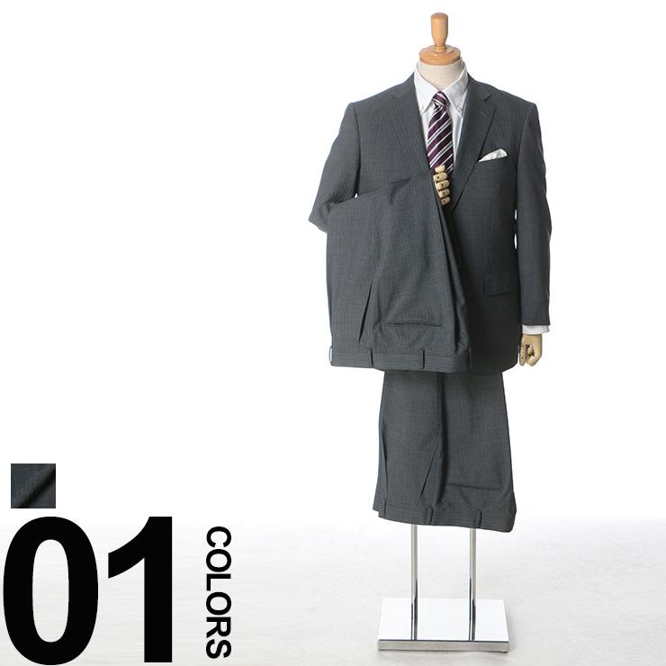 2パンツ ビジネス ストライプ [KB体 シングル 大きいサイズ KBE体] 【オールシーズン】 メンズ CLUB ウール サカゼン B&T ピンストライプ 2ツ釦 春 ウール混 ツーパンツ ワンタック スーツ
