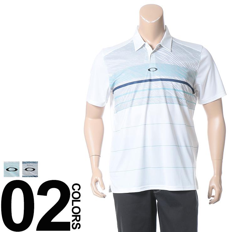 大きいサイズ メンズ OAKLEY (オークリー) ドライ 防臭 UVカット プリント切り替え 半袖 ポロシャツ [1XL 2XL] サカゼン ビッグサイズ カジュアル トップス ポロ スポーツ 機能性