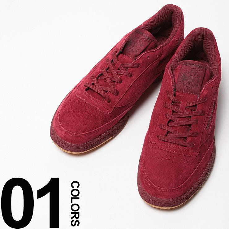大きいサイズ メンズ Reebok (リーボック) CLUB C 85 TG ガーメントレザー ロゴ ローカットスニーカー [29.0 30.0 cm] サカゼン ビッグサイズ カジュアル 靴 シューズ スニーカー テニス CLASSIC(ローカット 送料無料 メンズシューズ カジュアルスニーカー 紳士靴)