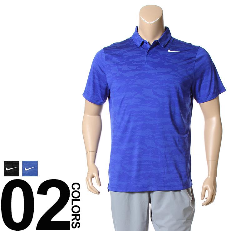大きいサイズ メンズ NIKE (ナイキ) ロゴ 総柄 半袖 ゴルフ ポロシャツ DRI FIT [1XL 2XL] サカゼン ビッグサイズ カジュアル トップス ポロ スポーツ トレーニング 吸汗速乾