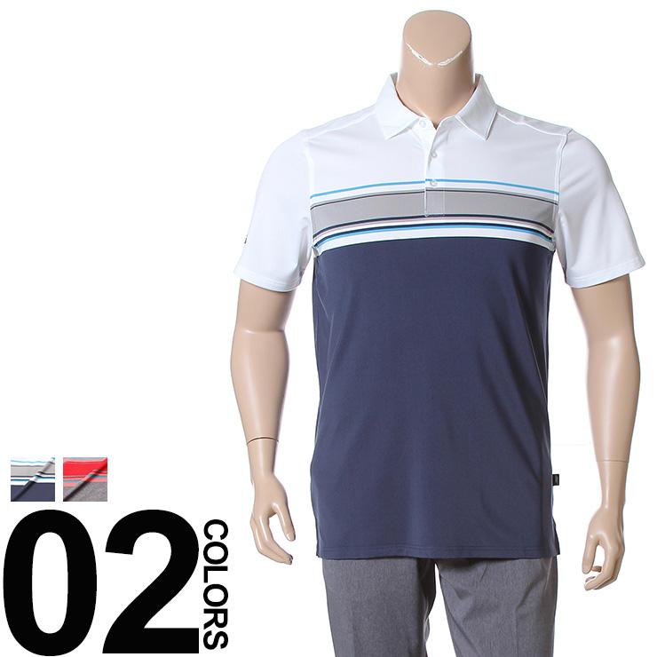 大きいサイズ メンズ SKECHERS (スケッチャーズ) ストレッチ ストライプ 半袖 ゴルフ ポロシャツ [1XL 2XL] サカゼン ビッグサイズ カジュアル トップス ポロ スポーツ 機能性