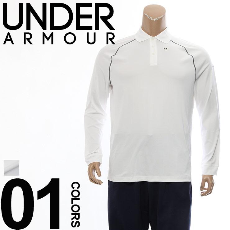 ポロシャツ メンズ 大きいサイズ 長袖 heatgear ヒートギア クール ホワイト INTENT 1XL 2XL ホワイト UNDER ARMOUR アンダーアーマー