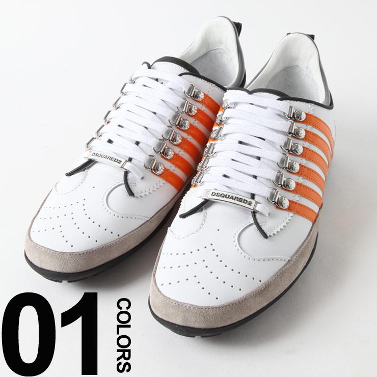 ディースクエアード DSQUARED2 スニーカー レザー ライン ローカット ブランド メンズ 靴 シューズ D2SMN0131M551