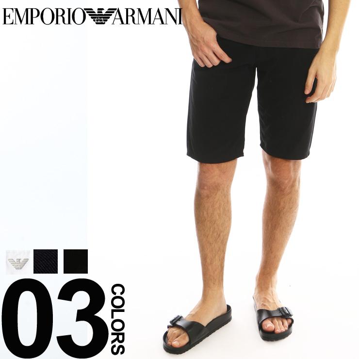 エンポリオ アルマーニ EMPORIO ARMANI ショートパンツ ショーツ ハーフパンツ ジップアップ コットン ホワイト 白 メンズ ブランド EA3Z1PA61N1ZZ