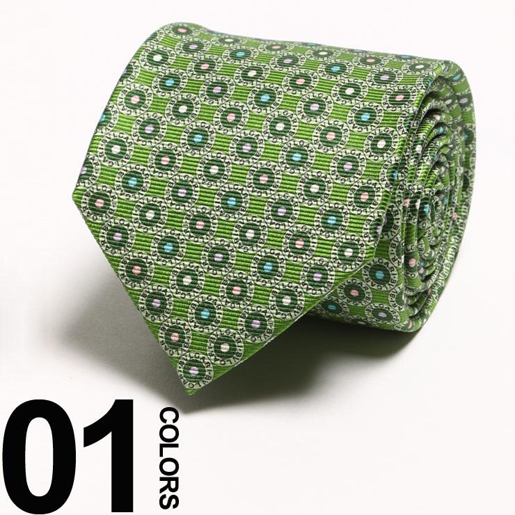 ブルガリ BVLGARI ネクタイ シルク ロゴ 総柄 LOGOMANIA ブランド メンズ ビジネス BLG242828S8