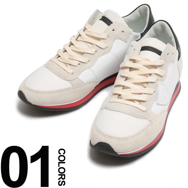 フィリップモデル パリス PHILIPPE MODEL PARIS スニーカー レザー ワッペン付き ローカット メンズ 靴 シューズ スウェード スエード PMTRLUWZ61
