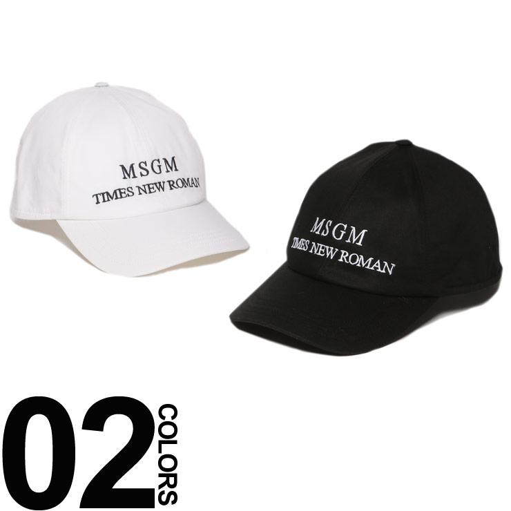 MSGM エムエスジーエム キャップ ロゴ マジックテープ アジャスター メンズ レディース ブランド 帽子 コットン ロゴ刺繍 MS2540ML05X