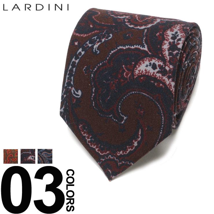 LARDINI (ラルディーニ) ウール100% ブートニエール付き ペイズリー柄 ネクタイブランド メンズ 男性 紳士 ビジネス 小物 ギフト プレゼント ラッピング 贈り物 タイ ウール LDCRC8IG51111