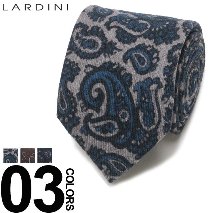 LARDINI (ラルディーニ) ウール100% ブートニエール付き ペイズリー柄 ネクタイブランド メンズ 男性 紳士 ビジネス 小物 ギフト プレゼント ラッピング 贈り物 タイ ウール LDCRC8IG51099