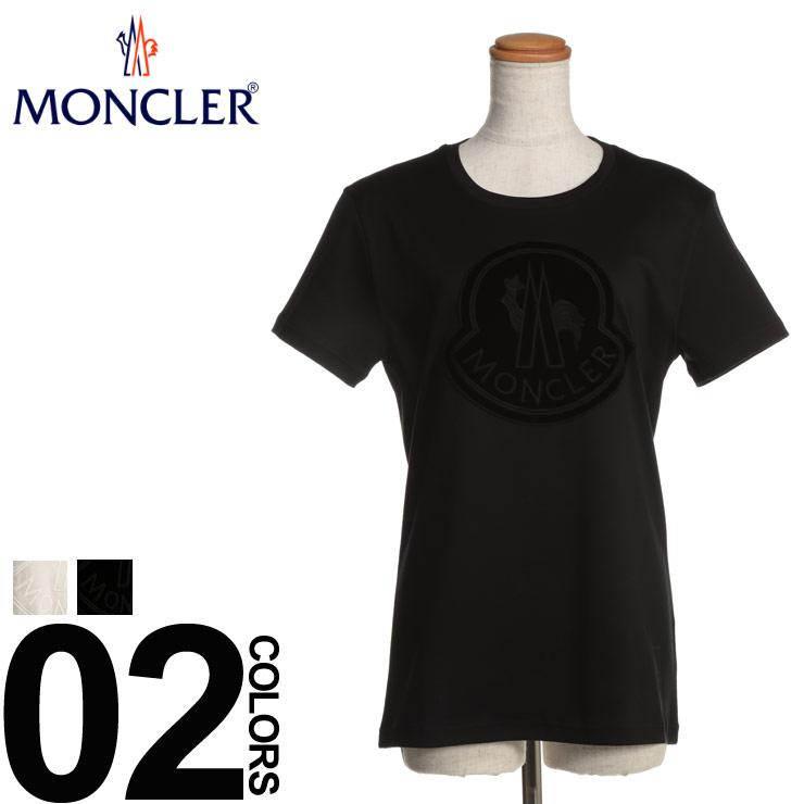 モンクレール メンズ MONCLER (モンクレール) 綿100% ベロアBIGロゴ 半袖 Tシャツブランド レディース カジュアル ファッション トップス シャツ クルーネック ロゴ コットン MCL80592008391N