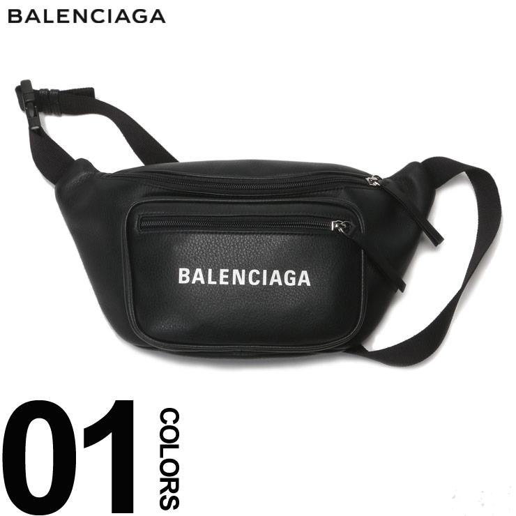 BALENCIAGA (バレンシアガ) レザー ロゴプリント ボディバッグブランド メンズ 男性 カジュアル ファッション 小物 鞄 バッグ ウエストバッグ 革 シンプル BC531933DLQ8N