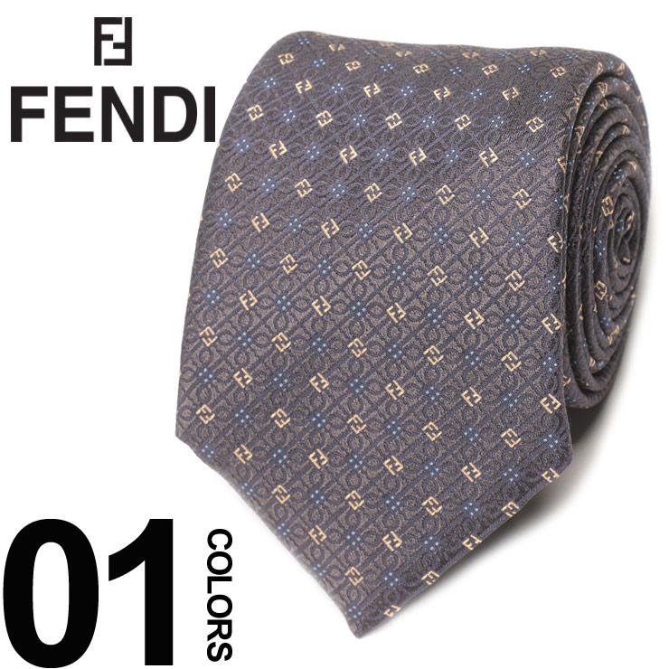 FENDI (フェンディ) シルク100% 小紋柄 ネクタイブランド メンズ 男性 紳士 ビジネス 小物 ギフト プレゼント ラッピング 贈り物 タイ シルク FDA50YF0QZ0