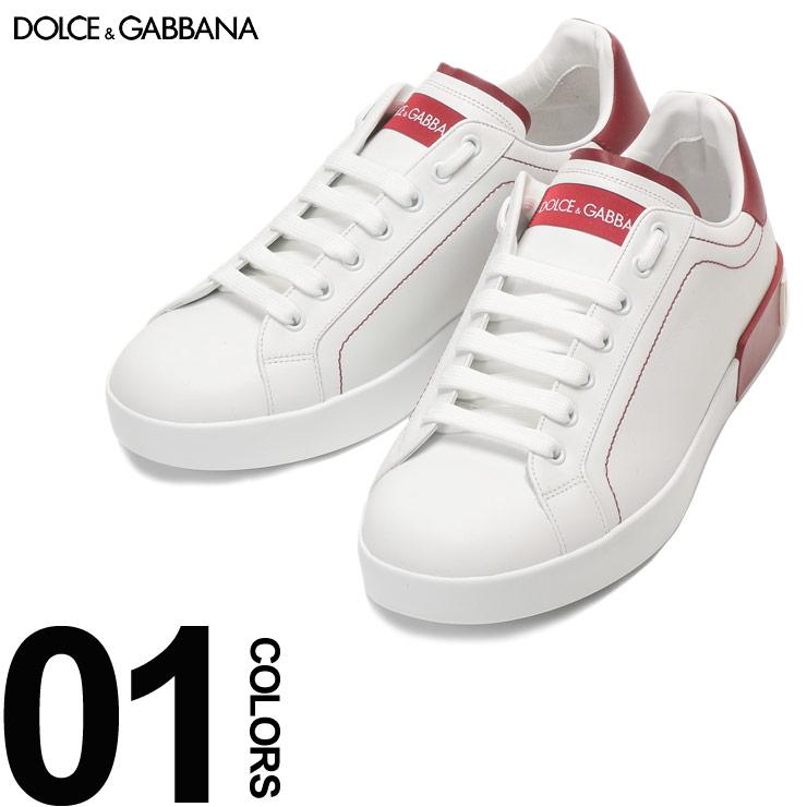 DOLCE&GABBANA (ドルチェ & ガッバーナ) レザー 3Dロゴ ローカットスニーカーブランド メンズ 男性 カジュアル ファッション 靴 シューズ スニーカー ステッチ シンプル DGCS1587AH526