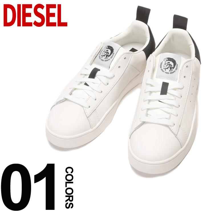 DIESEL (ディーゼル) レザー ロゴ ローカットスニーカーブランド メンズ 男性 カジュアル ファッション 靴 シューズ スニーカー 牛革 ストリート DSY01748P1729