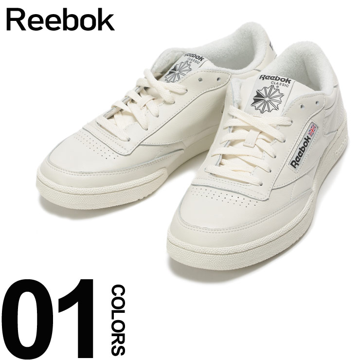 Reebok (リーボック) レザー ロゴ スニーカー CLUB C85 MUブランド メンズ 男性 カジュアル ファッション 靴 シューズ スニーカー 革 テニス クラシック RBCN3924
