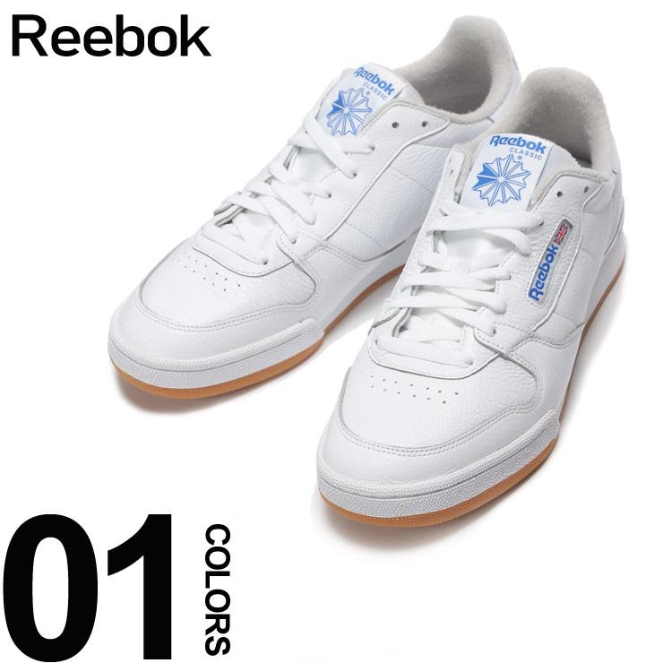 Reebok (リーボック) レザー ロゴ ローカットスニーカー PHASE 1 MUブランド メンズ 男性 カジュアル ファッション 靴 シューズ スニーカー スポーツ 革 RBCN4983