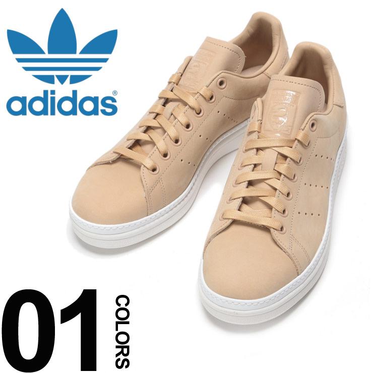 adidas (アディダス) レザー パンチングライン スニーカー Stan Smith New Bold Wブランド メンズ 男性 カジュアル ファッション 靴 シューズ スポーツ 革 スタンスミス ADB37665
