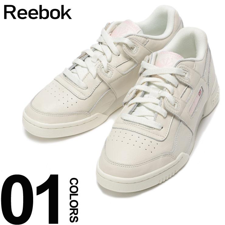 Reebok (リーボック) レザー ロゴ ローカットスニーカー WORKOUT LO PLUSブランド レディース 女性 カジュアル ファッション 靴 シューズ ベーシック 革 RBCN4610