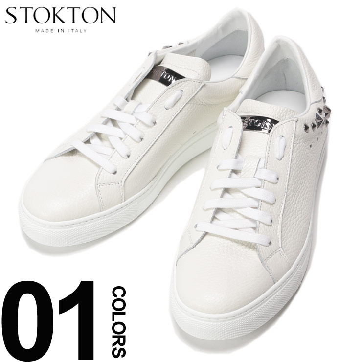 STOKTON (ストックトン) 牛革 スタッズ ローカットスニーカーブランド メンズ 男性 カジュアル ファッション 靴 シューズ スニーカー スポーティー 春 ST356U