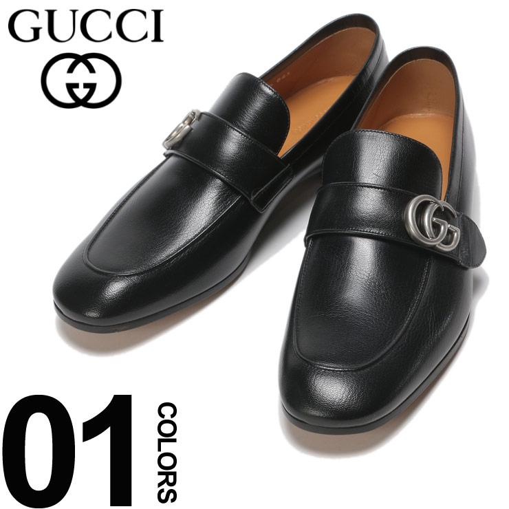 GUCCI (グッチ) レザー GGマーク ローファーブランド メンズ 男性 紳士 ビジネス フォーマル 革靴 シューズ ロゴ シンプル GC450853D3V00