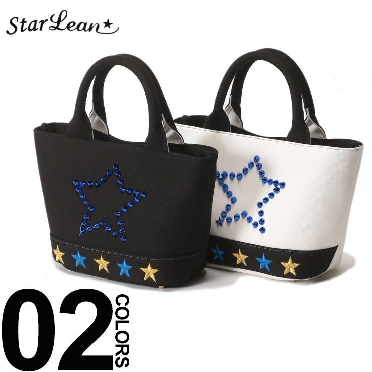StarLean (スターリアン) スタースタッズ 刺繍 ミニトートバッグブランド レディース カジュアル ファッション 小物 鞄 バッグ 小さい 可愛い 星 SETTB009