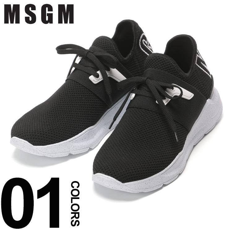 MSGM (エムエスジーエム) メッシュ ロゴ スニーカーブランド メンズ 男性 カジュアル ファッション 靴 シューズ ストリート レースアップ MS2540MS11