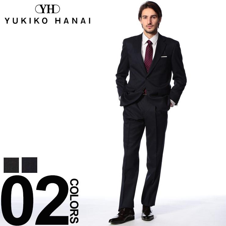 Yukiko Hanai (ユキコ ハナイ) シャドーストライプ パンツウォッシャブル シングル 2パンツ スーツメンズ 紳士 男性 ビジネス シングルスーツ ワンタック 2ツ釦 洗えるパンツ ウール S461041YH