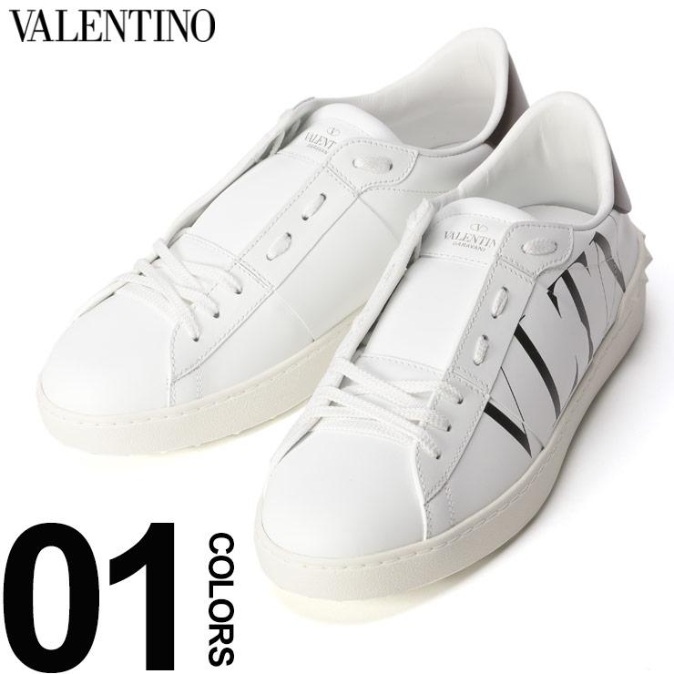 VALENTINO (ヴァレンティノ) ロゴプリント ロックスタッズ オープンスニーカーブランド メンズ 男性 カジュアル ファッション 靴 シューズ スニーカー ローカット レザー VLRY2S0830PST