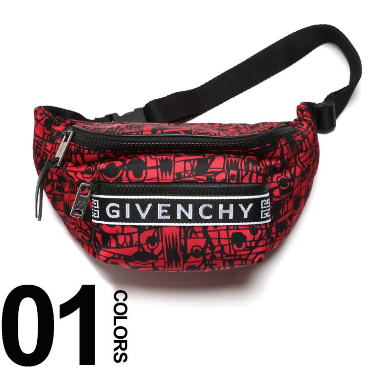 GIVENCHY (ジバンシィ) 総柄プリント ナイロン バムバッグ GIVENCHY 4Gブランド メンズ 男性 カジュアル ファッション 小物 バッグ ウエストポーチ ボディバッグ GVBK5037K0H0