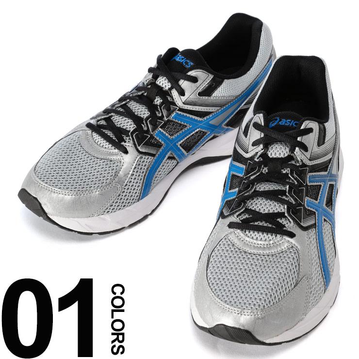 アシックス スニーカー 靴 大きいサイズ メンズ ローカット シルバー US11-12 ASICS GEL-CONTEND3 4E