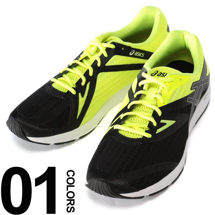 アシックス スニーカー 靴 大きいサイズ メンズ ローカット ブラック×イエロー US11-13 ASICS AMPLICA