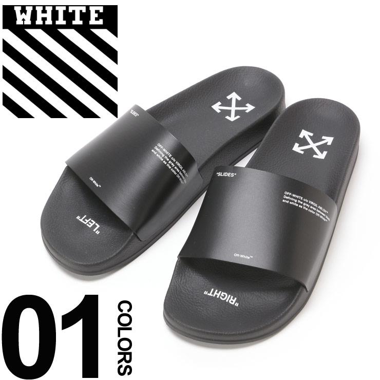 OFF-WHITE (オフホワイト) プリント スライドサンダル CORPORATE SLIDERブランド メンズ 男性 カジュアル ファッション 靴 シューズ ストリート シャワーサンダル OWIA87S19C2202