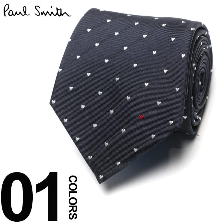 Paul Smith (ポール スミス) シルク100% ハート総柄 ネクタイ NAVYブランド メンズ 男性 紳士 ビジネス 小物 ギフト プレゼント ラッピング 贈り物 タイ シルク PSAE062A