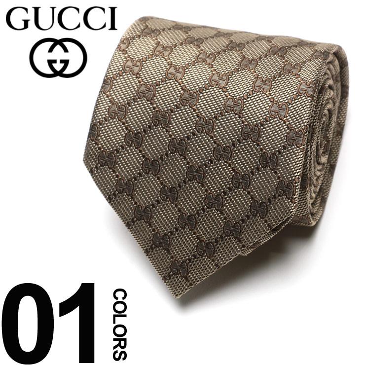 GUCCI (グッチ) シルク100% GGパターン ネクタイ BROWNブランド メンズ 男性 紳士 ビジネス 小物 ギフト プレゼント ラッピング 贈り物 タイ シルク GC4565229700