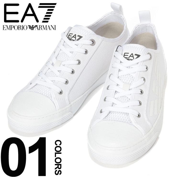 EMPORIO ARMANI EA7 (エンポリオ アルマーニ イーエーセブン) キャンバス センターメッシュ ローカットスニーカーブランド メンズ 男性 カジュアル ファッション 靴 シューズ スニーカー ロゴプリント EAX8X038XK068