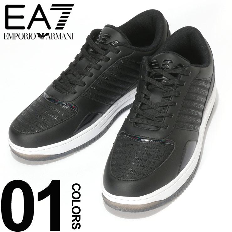 EMPORIO ARMANI EA7 (エンポリオ アルマーニ イーエーセブン) ロゴプリント ホログラム ローカットスニーカーブランド メンズ 男性 カジュアル ファッション 靴 シューズ スニーカー スポーティー EAX8X036XK064