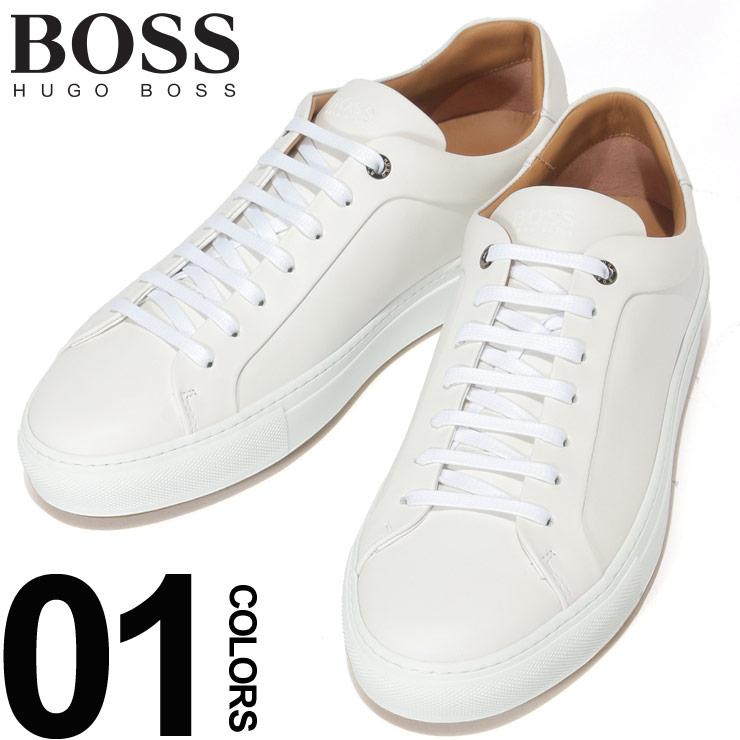 HUGO BOSS (ヒューゴ ボス) レザー 無地 ローカットスニーカーブランド メンズ 男性 カジュアル ファッション 靴 シューズ スニーカー シンプル 革 HB50386945