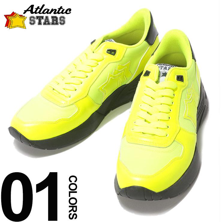 Atlantic STARS (アトランティックスターズ) スター レザー ネオン ローカットスニーカー MARS GF SN13ブランド メンズ 男性 カジュアル ファッション 靴 シューズ スニーカー 蛍光 星 ストリート ASGFSN13