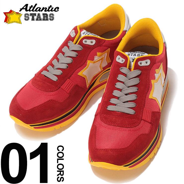 Atlantic STARS (アトランティックスターズ) スエード×メッシュ スター ローカットスニーカー PEGASUS FR J09ブランド メンズ 男性 カジュアル ファッション 靴 シューズ スニーカー レザー 星 ASFRJ09