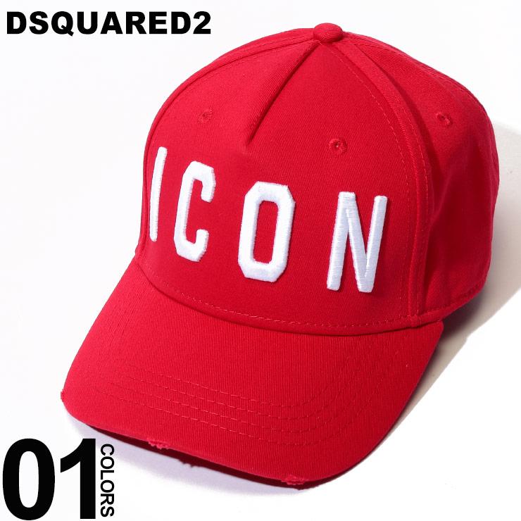 DSQUARED2 (ディースクエアード) ICON 3D刺繍 コットン キャップブランド メンズ 男性 カジュアル ファッション 小物 シンプル 帽子 シンプル ロゴ 5パネル D2BCM40015C019W