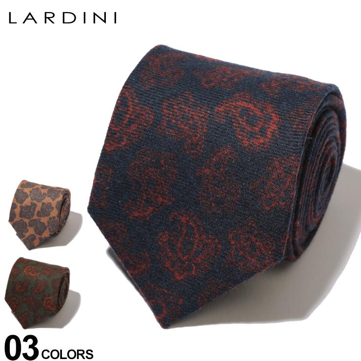 LARDINI (ラルディーニ) ウール100% ペイズリー柄 ネクタイブランド メンズ 男性 紳士 ビジネス 小物 ギフト プレゼント ラッピング 贈り物 タイ ウール LDCRC8IL53148