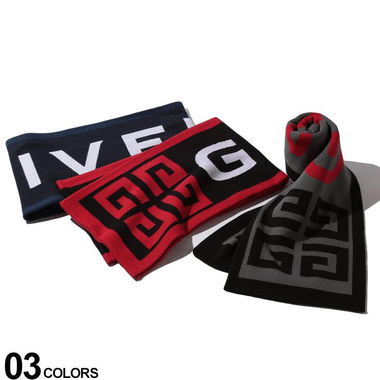 GIVENCHY (ジバンシィ) 綿100% BIGロゴ マフラーブランド メンズ 男性 カジュアル ファッション 小物 防寒 プレゼント ラッピング 贈り物 GV2516U1600
