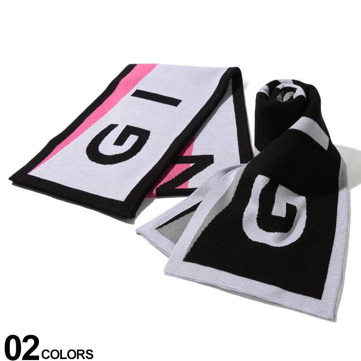 GIVENCHY (ジバンシィ) 綿100% 斜め配色切り替え ロゴ マフラーブランド メンズ 男性 カジュアル ファッション 小物 防寒 プレゼント ラッピング 贈り物 GV2516U1653