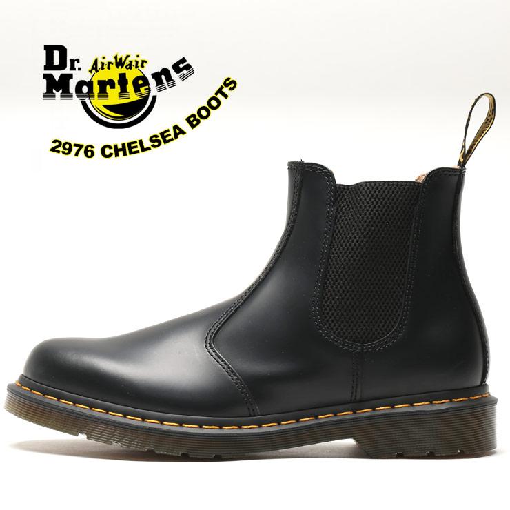 チェルシーブーツ 大きいサイズ メンズ レザー サイドゴア 2976 ブール ショート レザーブーツ 革 ブラック 10-11 Dr.Martens ドクターマーチン