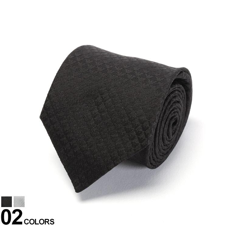 EMPORIO ARMANI (エンポリオ アルマーニ) シルク100% ミニロゴ総柄 ネクタイブランド メンズ 男性 紳士 ネクタイ タイ シルク ビジネス フォーマル ギフト プレゼント EA340075CC013