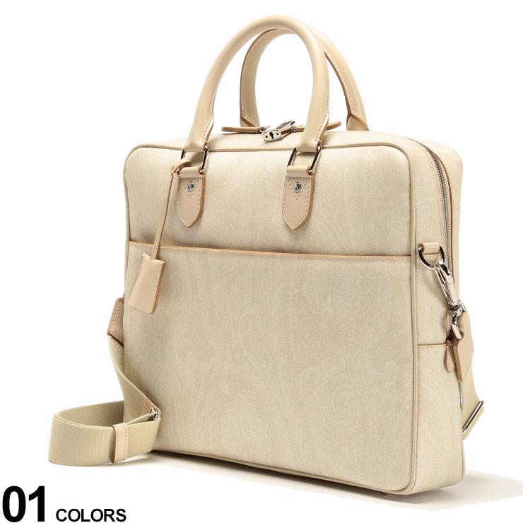 ETRO (エトロ) 2WAY ペイズリー柄 ブリーフバッグブランド メンズ 男性 バッグ 鞄 ショルダーバッグ トート ビジネス 旅行 出張 PCバッグ ユニセックス ET0H7638507